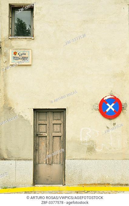 Pozo de la Nieve Street. Real Sitio de San Ildefonso, Segovia