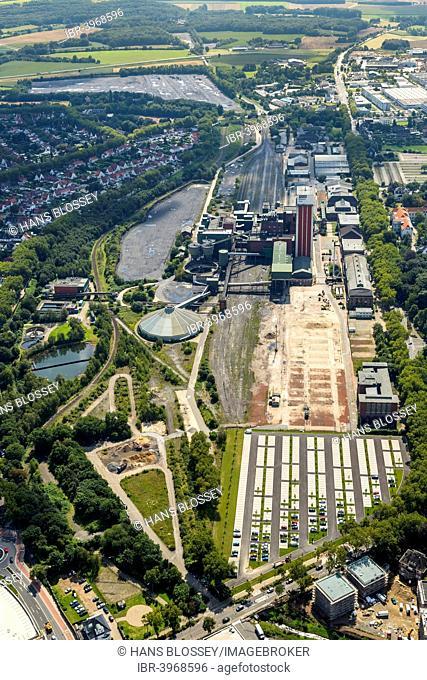Aerial view, Zeche Friedrich Heinrich 1-2 colliery, Kamp-Lintfort, North Rhine-Westphalia, Germany