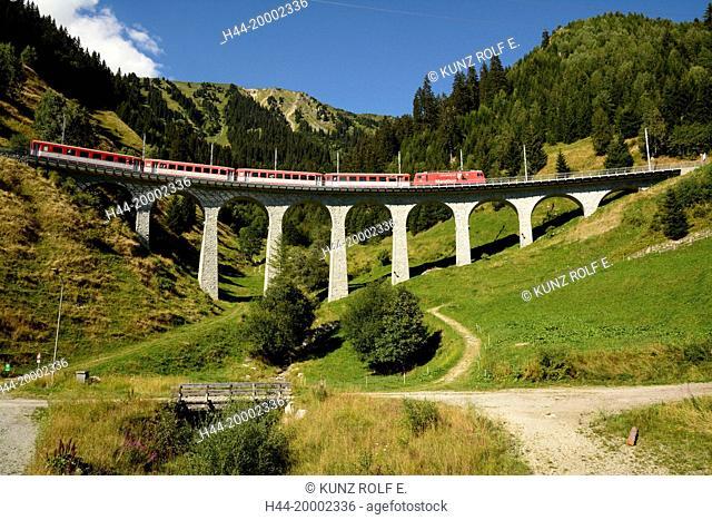 Railway, train, Matterhorn-Gotthardbahn, Switzerland