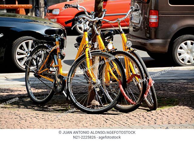 Bikes. Berlin, Germany, Europe