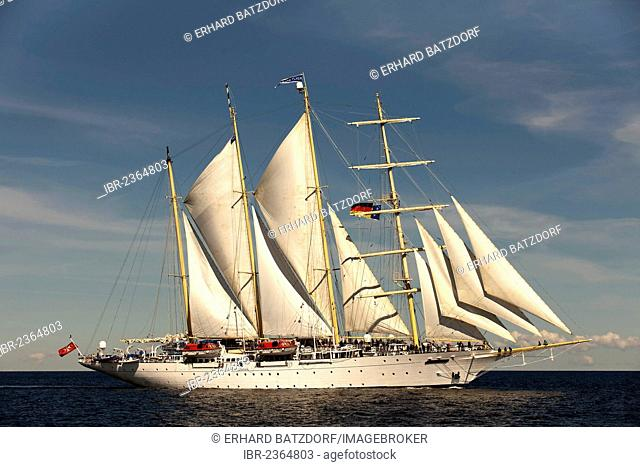 Four-masted sailing ship Star Flyer, Hanse Sail 2012 festival, Rostock, Mecklenburg-Western Pomerania, Germany, Europe