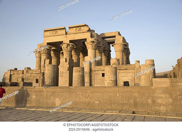 Partial view of the Temple of Kom Ombo, Is an unusual double temple, It was constructed during the Ptolemaic dynasty, 180â