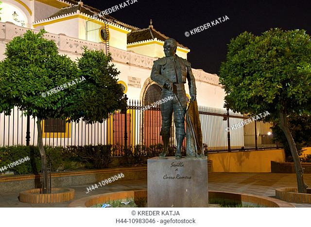 bullfighter statue in Seville, Andalusia