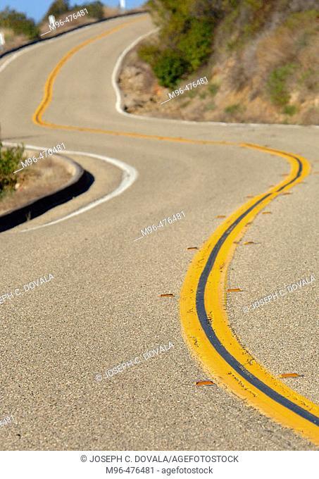 Winding road. Deer Creek. California. USA
