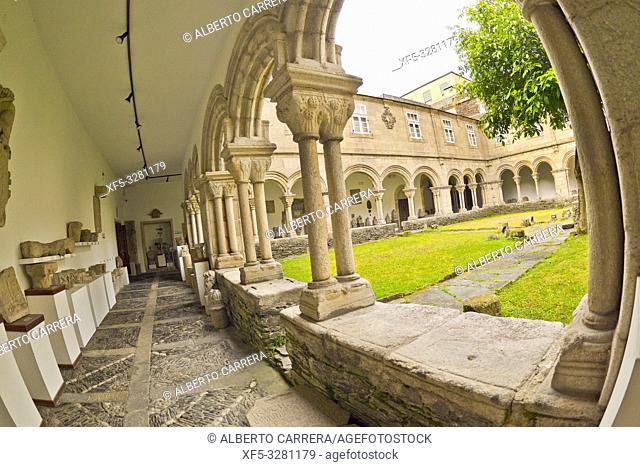 Cloister of Ancient Convent of San Francisco, Lugo's Provincial Museum, Lugo City, Lugo, Galicia, Spain, Europe