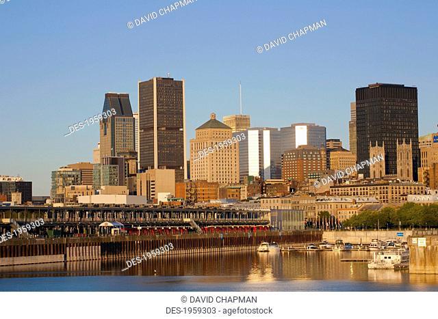 Montreal Skyline; Montreal, Quebec, Canada
