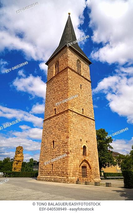 St Petri Kirche church tower in Nordhausen at Harz Thuringia of Germany