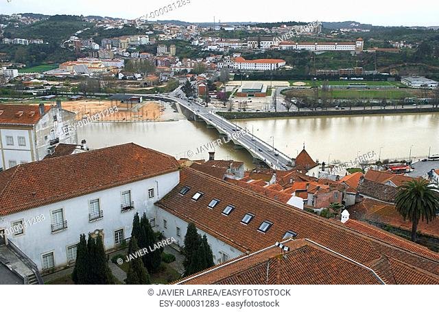 Santa Clara bridge over Mondego River, Coimbra. Beira Litoral, Portugal