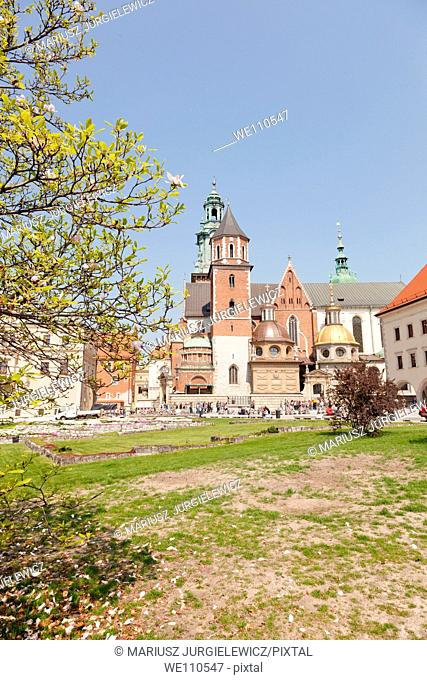 Wawel Cathedral, also known as the Cathedral Basilica of Sts  Stanislaw and Vaclav, is a church located on Wawel Hill in Kraków