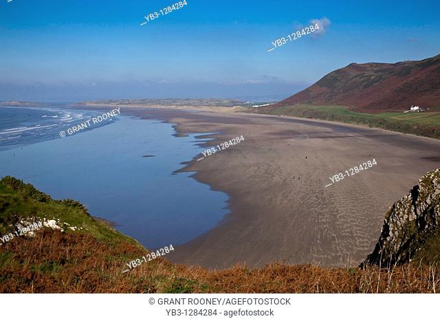 Rhossili Bay, Gower Peninsular, South Wales, UK