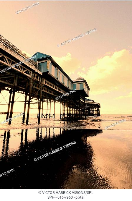Pier with sea in Blackpool, UK