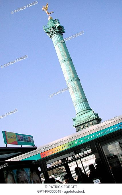 URBAN TRANSPORT, PARIS BUS, PLACE DE LA BASTILLE, PARIS