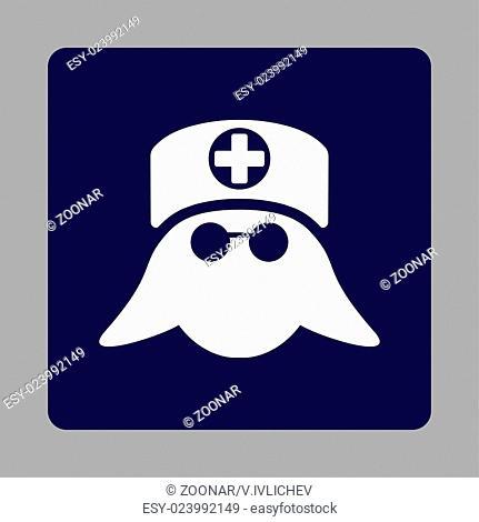 Nurse Head Flat Button