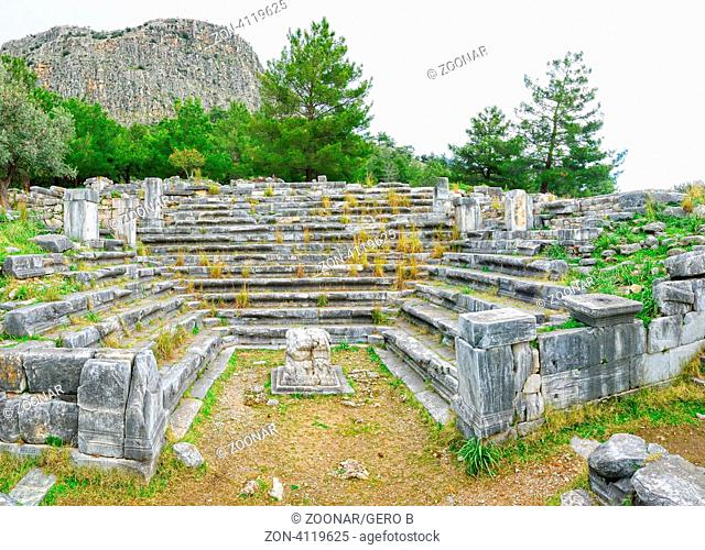 Buleuterion Priene Türkei, Bouleuterion Priene Turkey