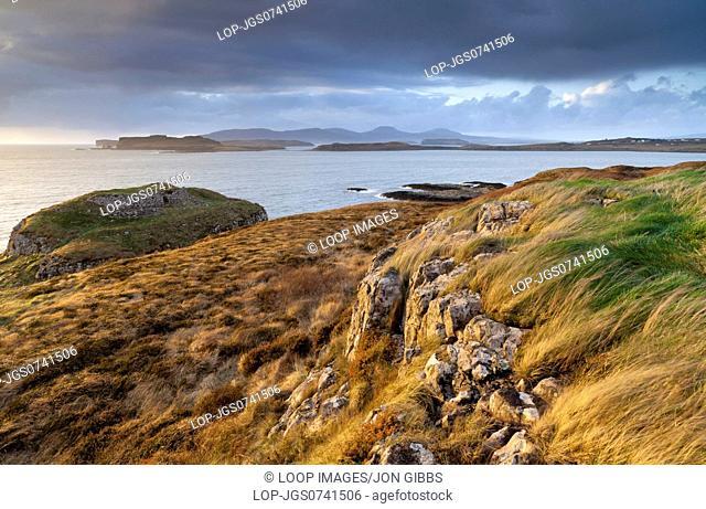 A coastal scene with stormy weather