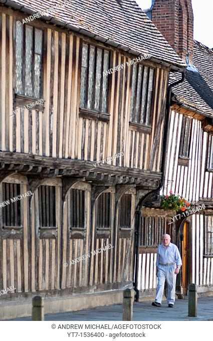 Stratford upon Avon timber framed Tudor buildings  Warwickshire  UK
