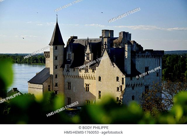 France, Maine et Loire, Loire Valley, listed as World Heritage by UNESCO, Montsoreau, castle dated 15th century along the Loire river