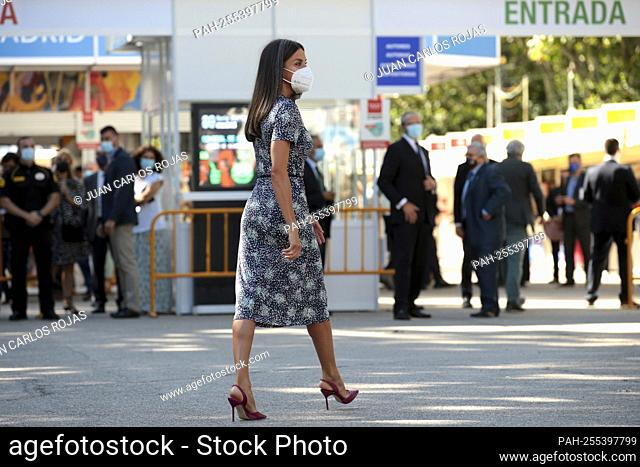 Madrid, Spain; 10.09.2021.- Queen Letizia inaugurates the Madrid Book Fair, which in this 80th edition has Colombia as the guest of honor