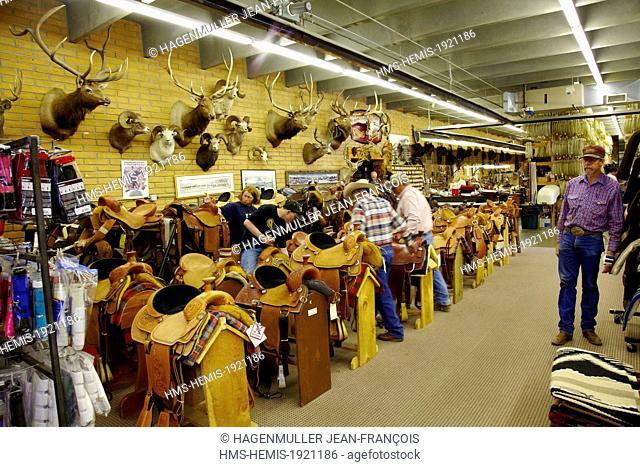 United States, Wyoming, Cody, rodeo shop