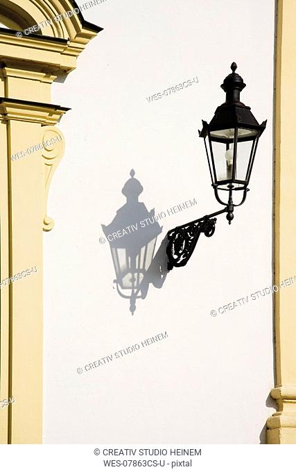 Germany, Bavaria, Munich, Lantern on wall