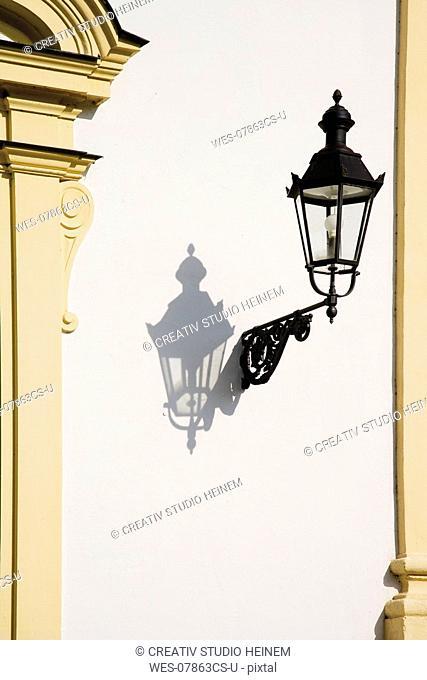 Germany, Bavaria, Munich, Lantern on wall