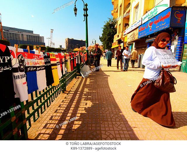Revolution of January 25th  Tahrir square  Cairo  Egypt