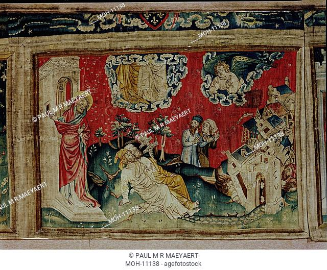 La Tenture de l'Apocalypse d'Angers, Les Témoins ressuscitent 1,63 x 2,39m, Auferstehung der beiden Zeugen