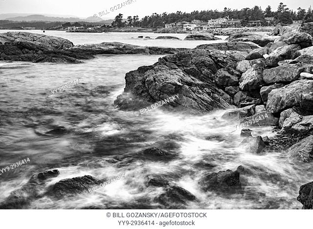 View from Macaulay Point Park, Esquimalt, Victoria, Vancouver Island, British Columbia, Canada