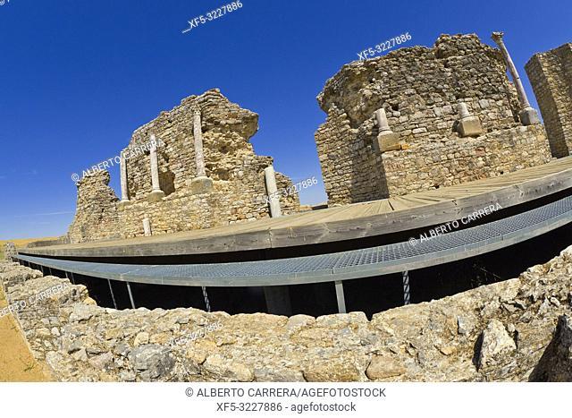 Roman Theatre, Roman City of Regina Turdulorum, Good of Cultural Interest, Casas de la Reina, Badajoz, Extremadura, Spain, Europe