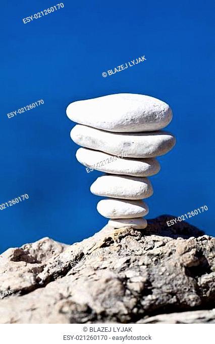 Stones stack, Croatian beach