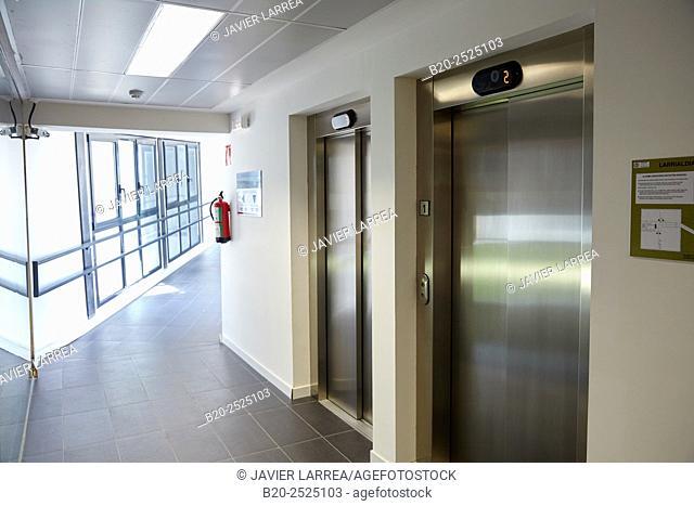 lifts, Office building, PIA, Audiovisual Innovation Pole, Donostia, San Sebastian, Gipuzkoa, Basque Country, Spain