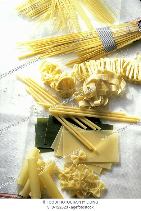 Assorted Pasta Still Life