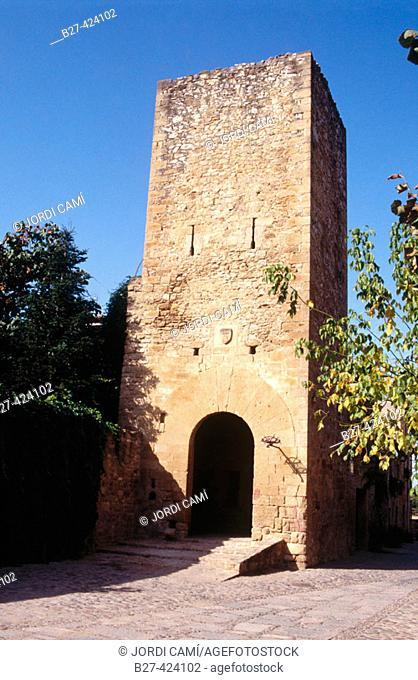 Medieval tower, Vulpellac, Forallac, Baix Empordà, Girona province, Spain
