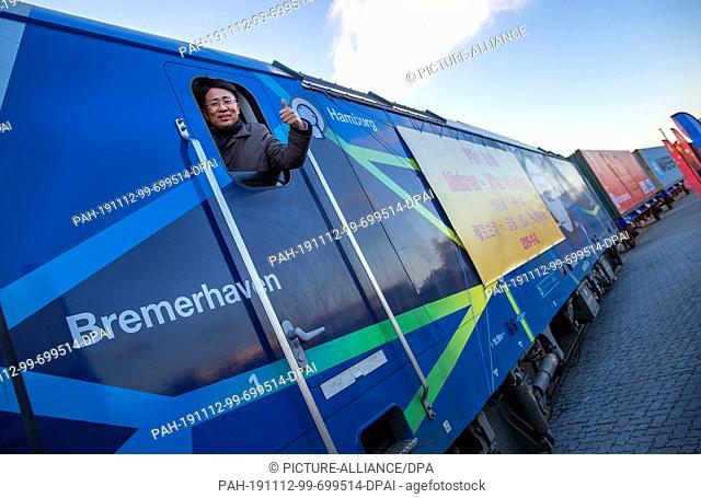 12 November 2019, Mecklenburg-Western Pomerania, Sassnitz: Dong Wanxu, CEO of Beijing Trans Eurasia International Logistics