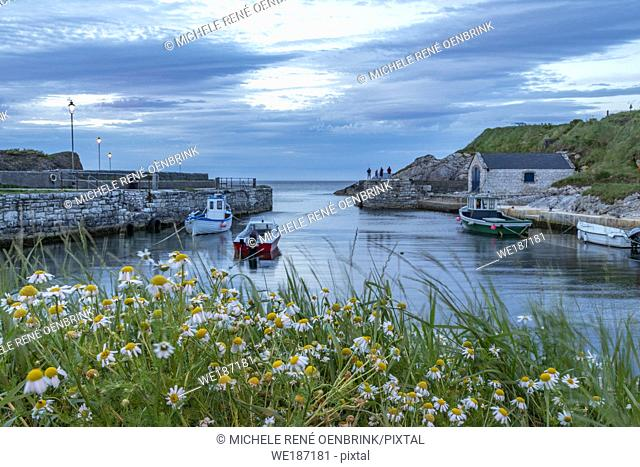 Ballintoy Harbour Marina in Northern Ireland