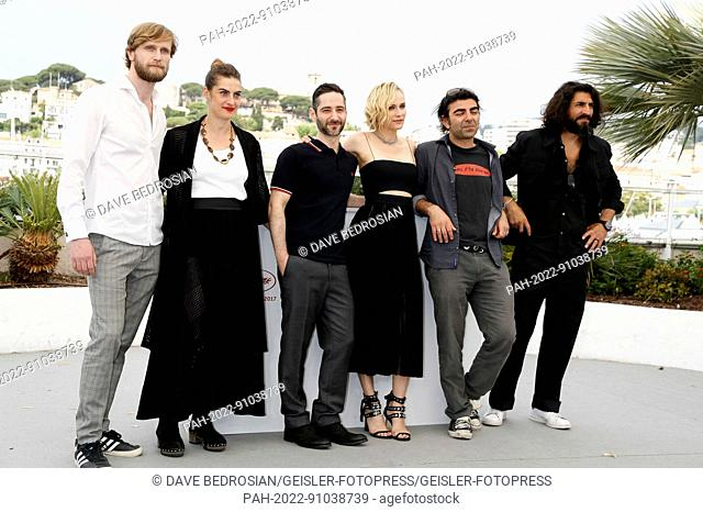 Ulrich Brandhoff, Samia Chancrin, Denis Moschitto, Diane Kruger, Fatih Akin and Numan Acar at the 'Aus dem Nichts / In the Fade' photocall during the 70th...