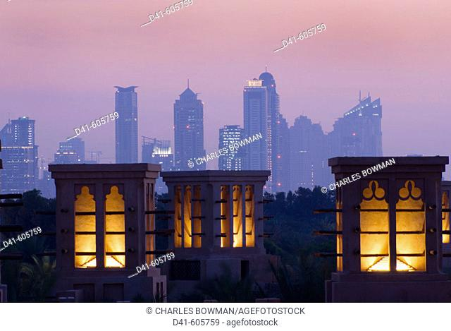 Middle east, uae, united arab emirates, Dubai, Al qasr hotel dusk