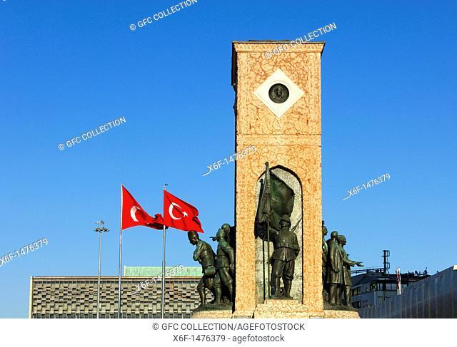 Monument of the Republic on Taksim Square, Istanbul,Turkey