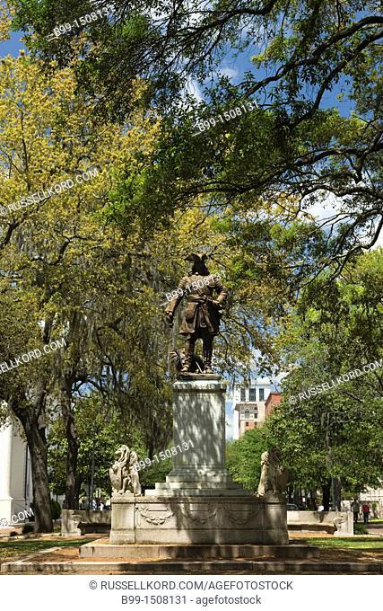James Oglethorpe Monument Chippewa Square Savannah Georgia USA