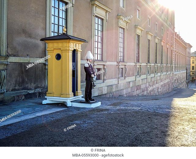 Stockholm Palace, guard, west front