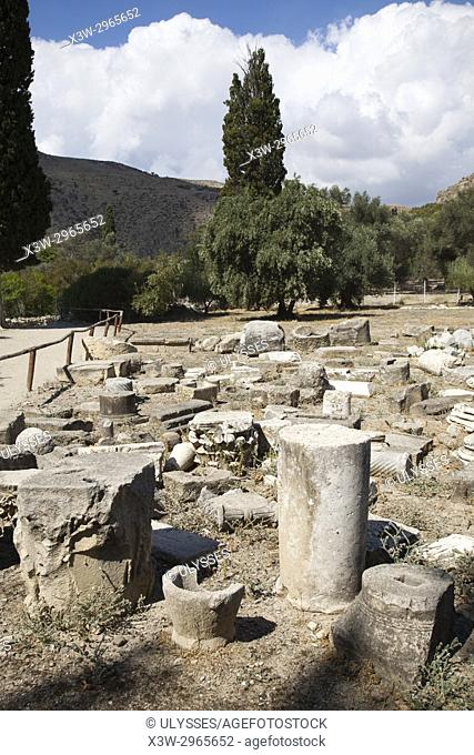 Archaeological site of Gortyna, Crete island, Greece, Europe