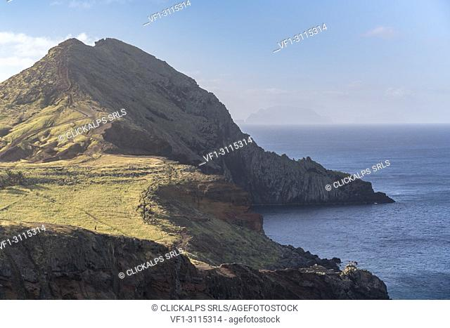 Sarines' Bay and Furado Point at St Lawremce Point. Canical, Machico district, Madeira region, Portugal