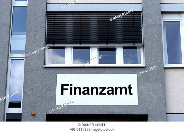 DEU , GERMANY : The tax office of Quedlinburg , 08.07.2018 - Quedlinburg, Sachsen-Anhalt, Germany, 08/07/2018