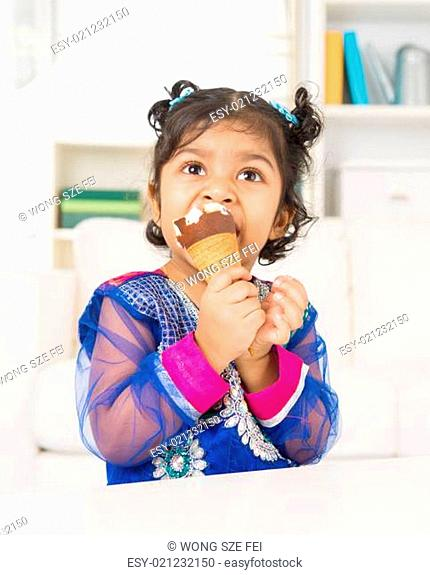 Eating ice cream at home