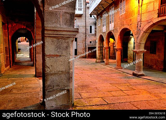 Old Town. Jewish Quarter of Ribadavia, Orense, Spain