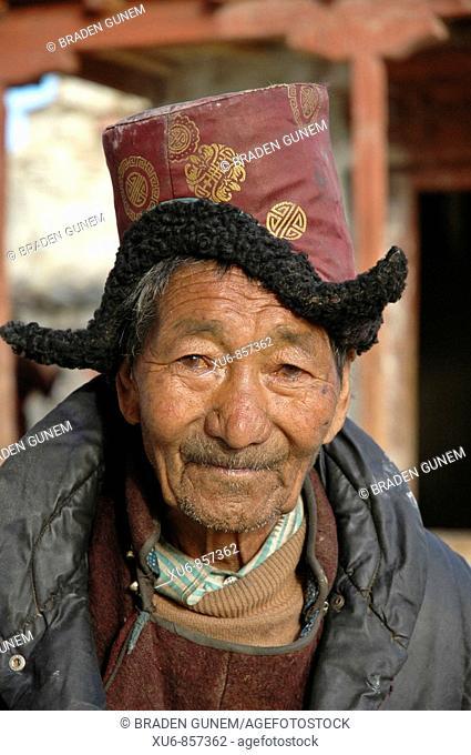 Ladakhi man Lama Yuru, Ladakh, India