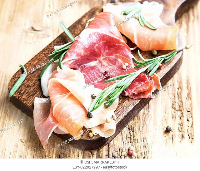 Prosciutto Ham with Rosemary and Pepper Spice