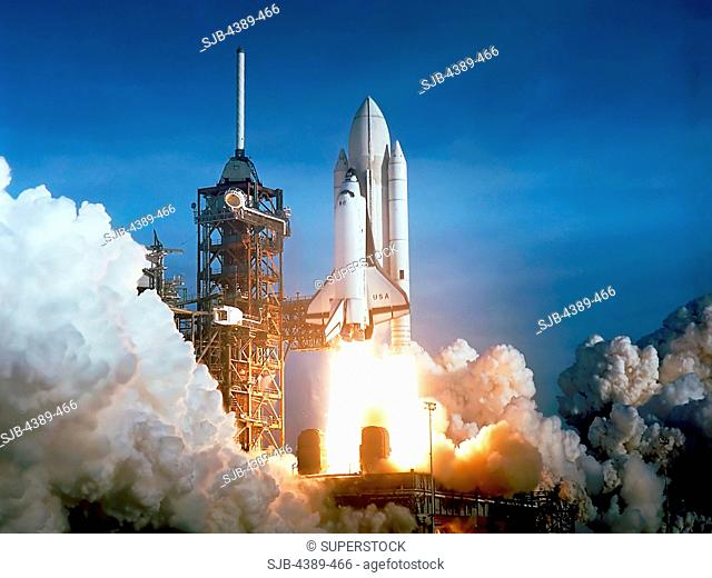 Launch of Shuttle Columbia on STS-1