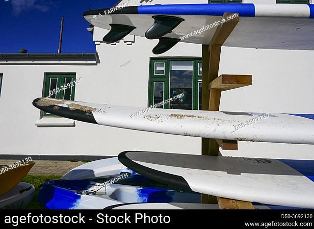 Klitmoller, Denmark Surfboards at a rental store