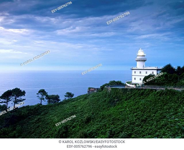 Lighthouse in Donostia - San Sebastian, Basque Country, Spain